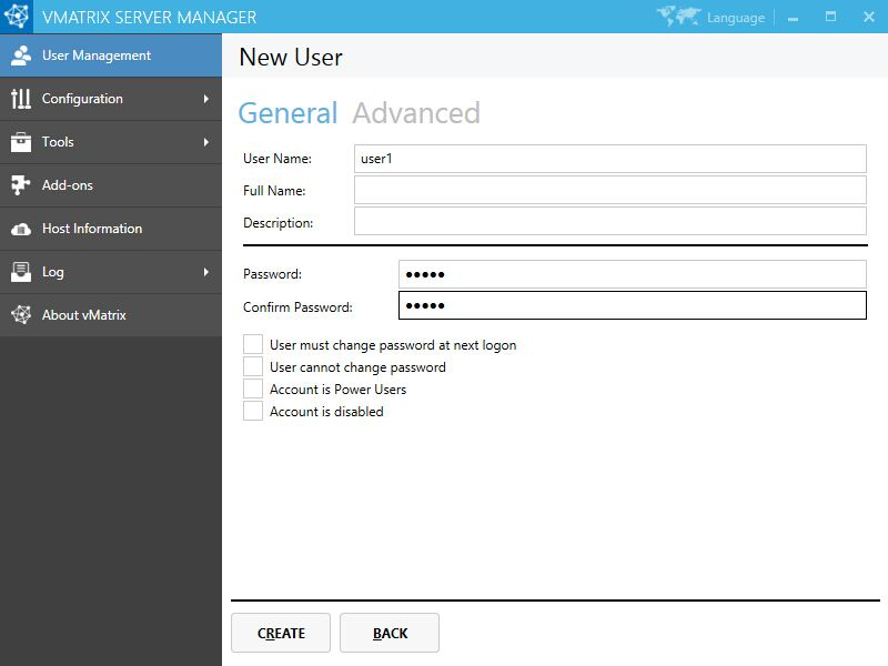 Create user accounts